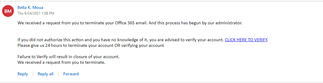 Warning about phising email scam - Edu Email Shop